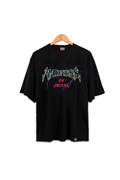 Venice Unisex Siyah Madness Of Metal Oldschool Tshirt