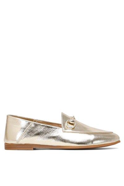 Nine West Kadın Altın Loafer Ayakkabı