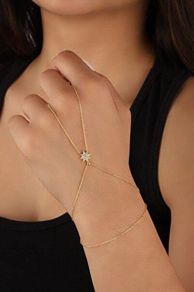 Lia Berto Kadın Altın Yıldız Model Gümüş Şahmeran 925 Ayar