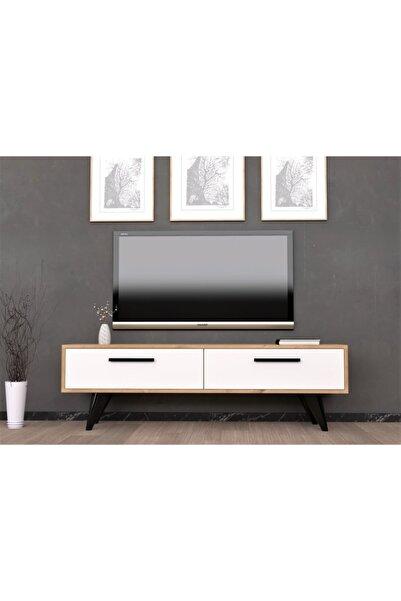 cantek 120 Cm Melisa Tv Ünitesi Safirmeşe-beyaz