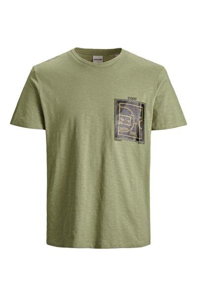 Jack & Jones Jack Jones Attack Tee Ss Crew Neck Erkek Yeşil Tshirt 12188021-21