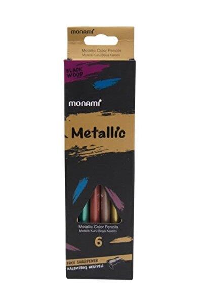 Monami Metalik Jumbo 6lı Kuru Boya Seti