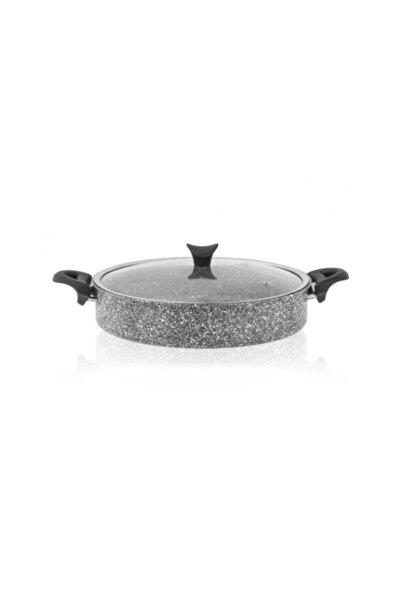 Taç Ultra Granit 24 Cm Basık Granit Tencere Gri -3465