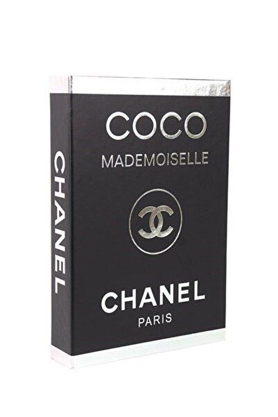 DE HOME Chanel Coco Mademoiselle Dekoratif Kitap Kutu - Gümüş/siyah