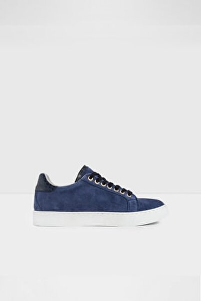 Marbella-tr - Gerçek Süet Mavi Kadın Sneaker