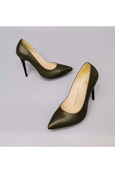 CassidoShoes Haki Deri Stiletto