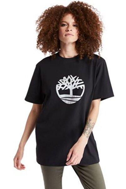 Timberland Kadın Siyah Regular Kesim T-shirt