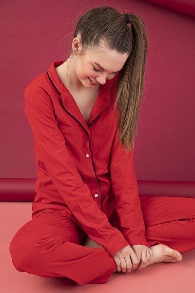 STRAWBERRY Düğmeli Pijama Takım