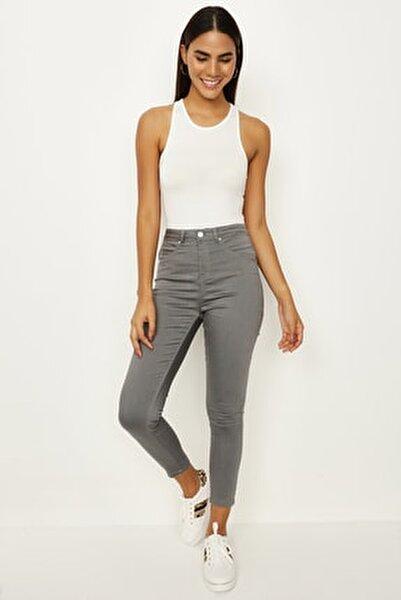 Kadın Füme Skinny Pantolon