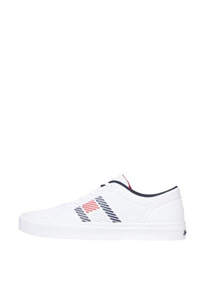 Tommy Hilfiger Erkek Beyaz Sneaker Lightweight Stripes Knit Sneaker FM0FM03400