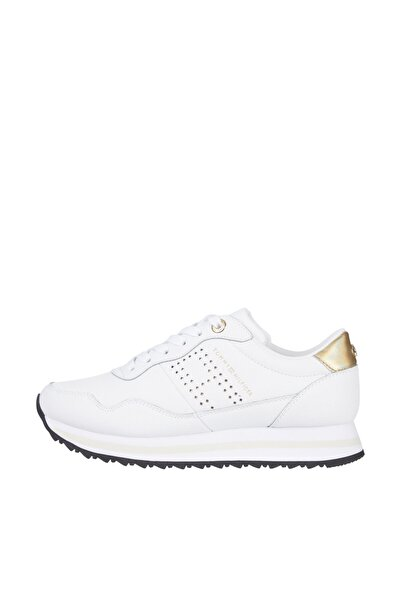 Tommy Hilfiger Kadın Beyaz Sneaker Lifestyle Runner Sneaker FW0FW05557