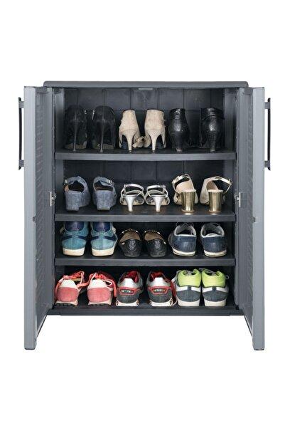 Via Gardenia Iki Kapaklı Plastik Ayakkabı Dolabı 68x37x84 Cm E71/bplus