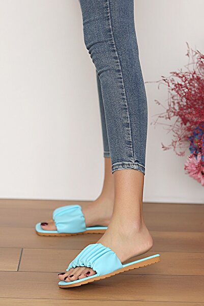 Pembe Potin Kadın Bebemavi Sandalet