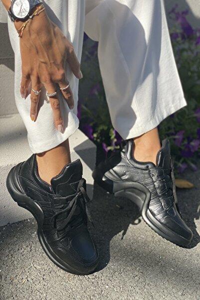 İnan Ayakkabı Siyah Kadın Spor Ayakkabı Y2021