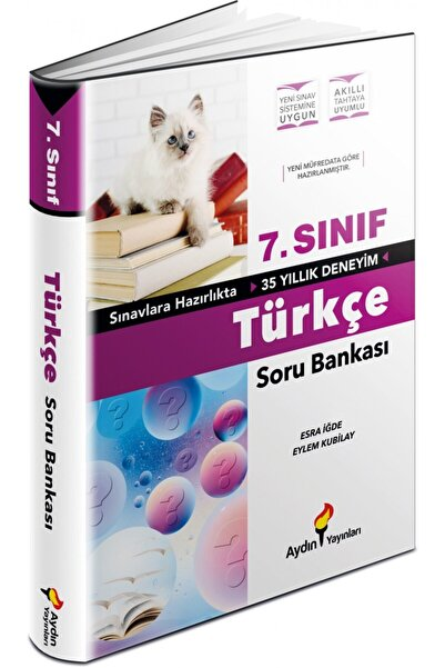 Aydın Yayıncılık Aydın Yayınları 7.sınıf Türkçe Soru Bankası