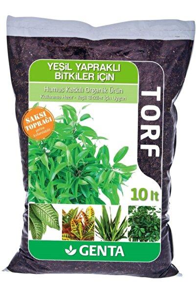Genta Yeşil Yapraklı Bitkiler Için Humuslu Organik Toprak Torf 10 Lt
