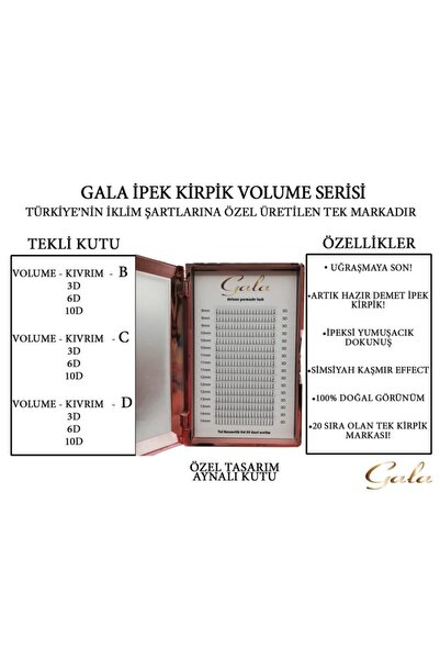 TNL Kolay Demet İpek Kirpik 6d C Mix Kutu TNL0TR2020828