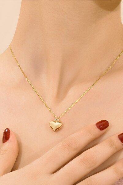 myorogold 14 Ayar Altın Valentino Zincir Kalp Modeli Kolye