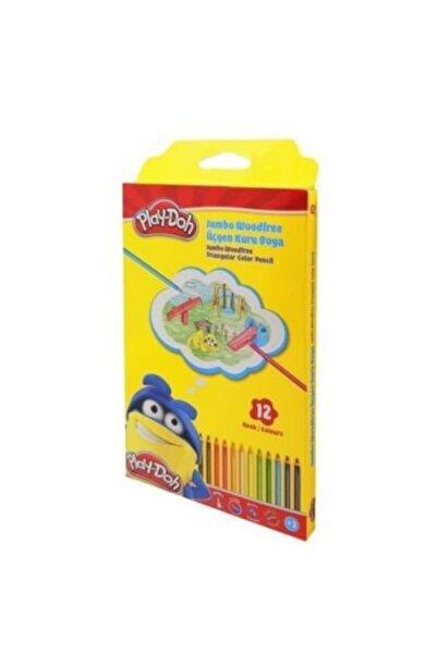 Play Doh Kuru Boya 12 Renk Üçgen Jumbo Woodfree