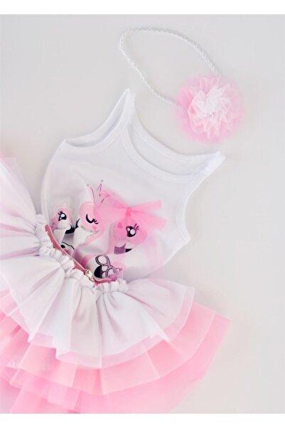 Wogi Kız Bebek Askılı Tişört