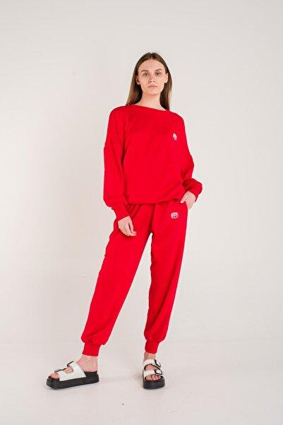 Fineapple Kadın Kırmızı Eşofman Alt