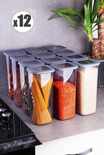 Kitchen Life 12 Adet Jumbo Boy Erzak Saklama Kabı Seti - 1750 Ml Süper Set