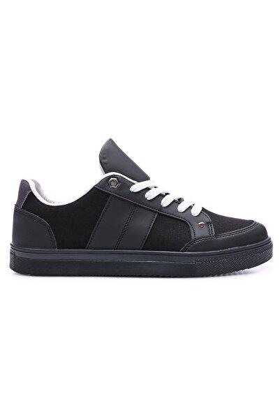 Tommy Life Tommylife Siyah Erkek Bağcıklı Suni Deri Detaylı Spor Ayakkabı-89065