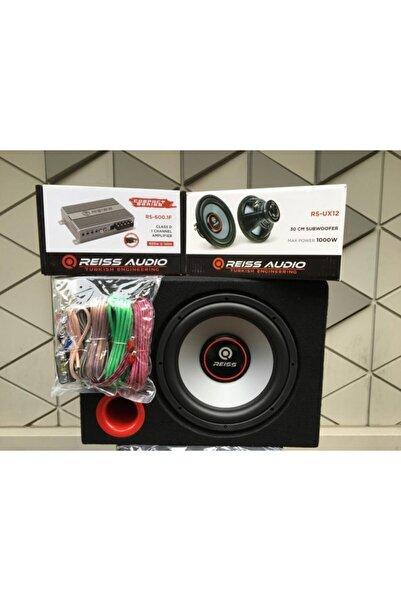 REISS AUDIO Ful Set Rs-ux12 30 Cm 1000w Subwoofer Bas Rs-600.1f Dijital Amfi Kablo Tk. Kabin