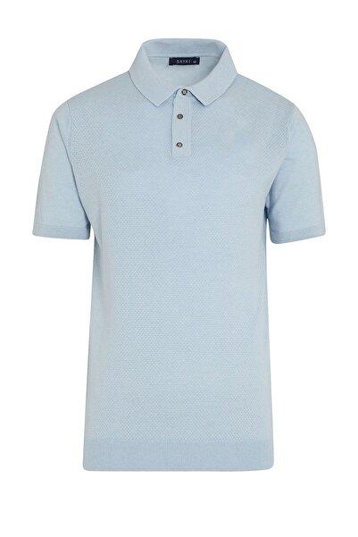 Hatemoğlu Mavi Regular Fit Polo Yaka Triko  T-shirt