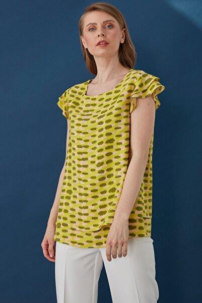 Journey Kadın Sarı Şifon Bluz