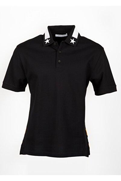 Givenchy Erkek Siyah Polo Yaka T-shirt