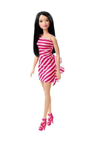 Barbie Pırıltı Barbie Bebekler - Pembe Çizgili Elbiseli FXL70-T7580