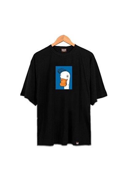 Venice Unisex Siyah Crazy Duck Oldschool Tshirt