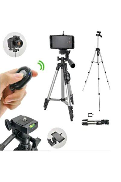GFUZ Profesyonel Fotoğraf Video Çekimi Bluetooth Uzaktan Kumandalı 106 Cm Tripot Telefon Tutucu