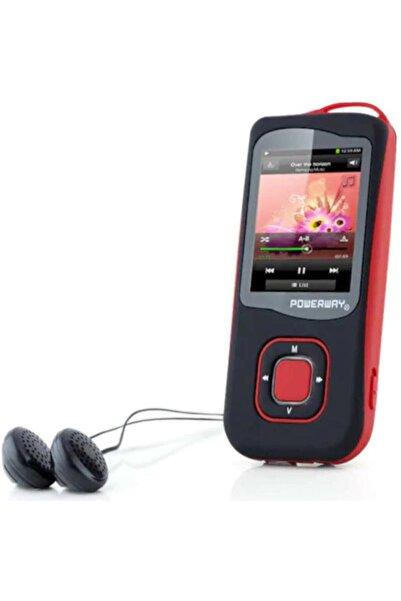 POWERWAY Mp3 Mp4 Çalar 4 Gb Dahili Hafıza Fm Radyo Dijital Ekran