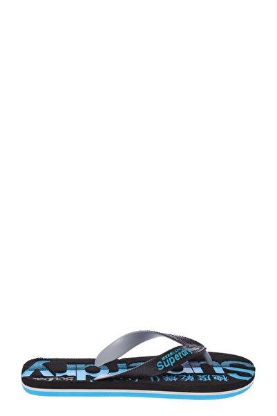 SUPERDRY Erkek Siyah Mavi Detaylı Parmak Arası Terlik