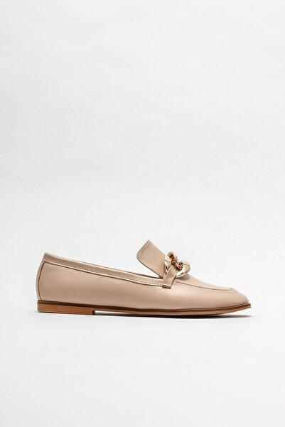 Elle Shoes Naturel Kadın Loafer