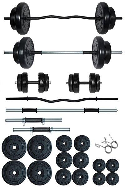Fitset 88 kg Z Barlı Halter Seti ve Dambıl Seti Ağırlık Fitness Seti