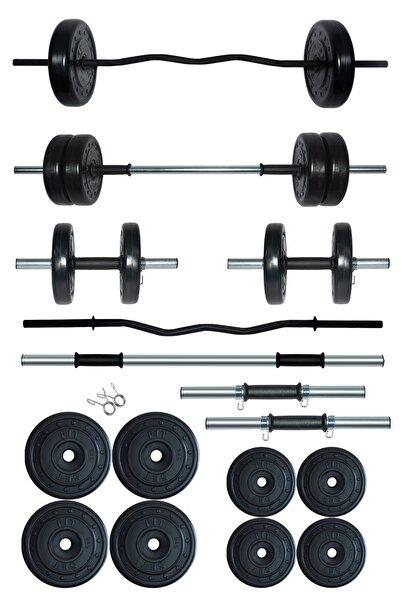 Fitset 38 kg Z Barlı Halter Seti Ve Dambıl Seti Ağırlık Fitness Seti