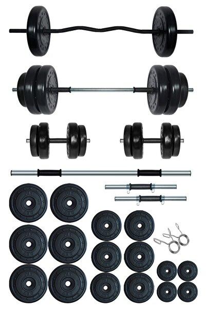 Fitset 108 kg Z Barlı Halter Seti Ve Dambıl Seti Ağırlık Fitness Seti