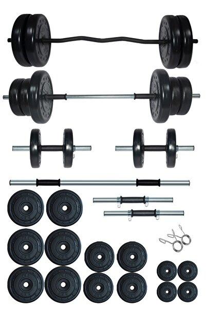 Fitset 98 kg Z Barlı Halter Seti Ve Dambıl Seti Ağırlık Fitness Seti