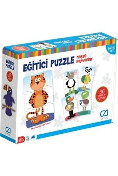 Eğitici Puzzle Neşeli Hayvanlar Ca.5028