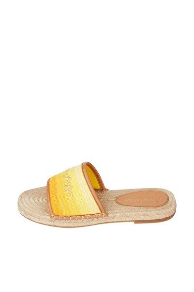 Tommy Hilfiger Kadın Sarı Sandalet Tommy Gradient Mule Espadrille FW0FW05625