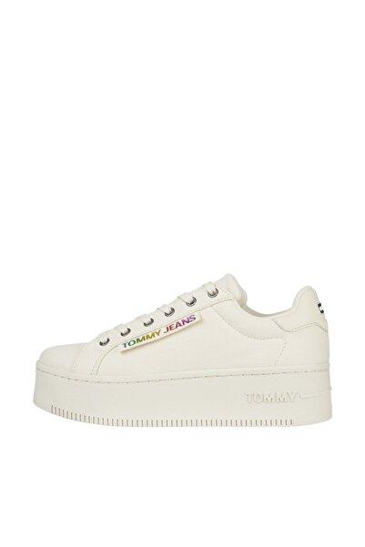 Tommy Hilfiger Kadın Bej Sneaker iconic Seasonal Flatform EN0EN01367