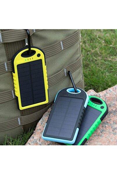 Mbois Güneş Enerjili Işıklı Solar Taşınabilir Usb Girişli Şarj Cihazı Powerbank 15000 Mah