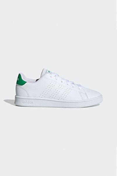 adidas Kadın  Beyaz Yeşil Advantage  Spor Ayakkabı Ftwwht Ef0213