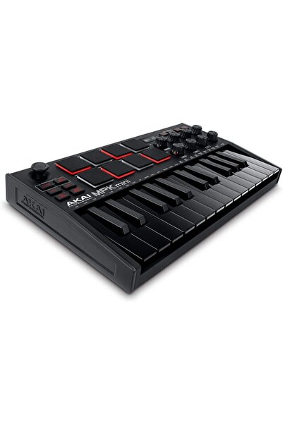 AKAI Profesyonel Mpk Mini Mk3, 8 Arkadan Aydınlatmalı Davul Pedli 25 Tuşlu Usb Mıdı Klavye Denetleyi