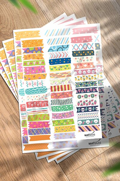 colortouch Bant Sticker 90 Adet ( 2 Sayfa , Boyut A5 )