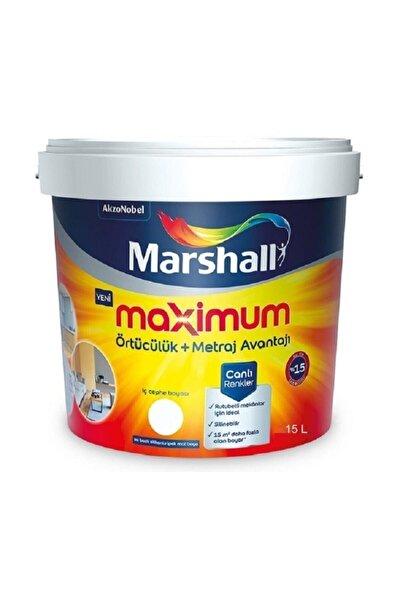 Marshall Maximum Su Bazlı Silinebilir Ipeksi Mat 15 Lt / 20 Kg Beyaz