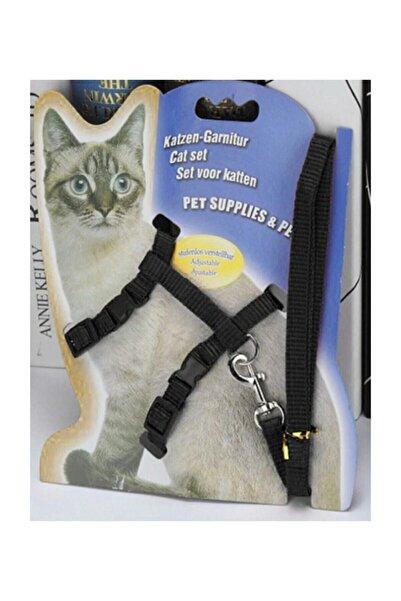 TİNEKE Kedi Göğüs Tasması Ve Gezdirme Seti No: 113 Siyah